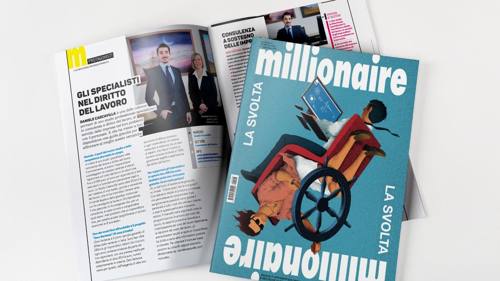 Millionaire Protagonisti Daniele Cascavilla Consulente del lavoro